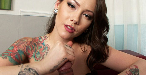 image Tattooed brunette mom ashton blake fucking