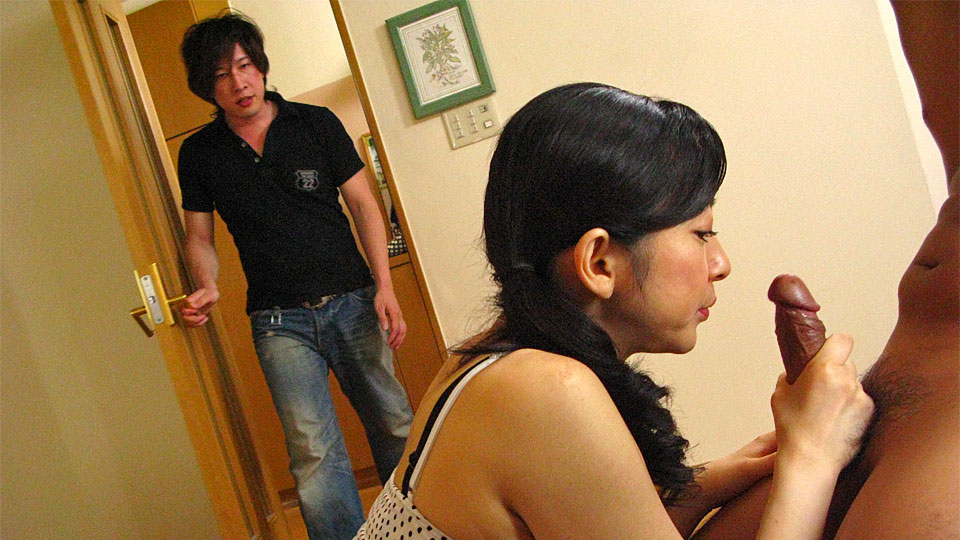 Busty Japanese Mom In A Ponytail Hanging Out With Two Younger Dudes