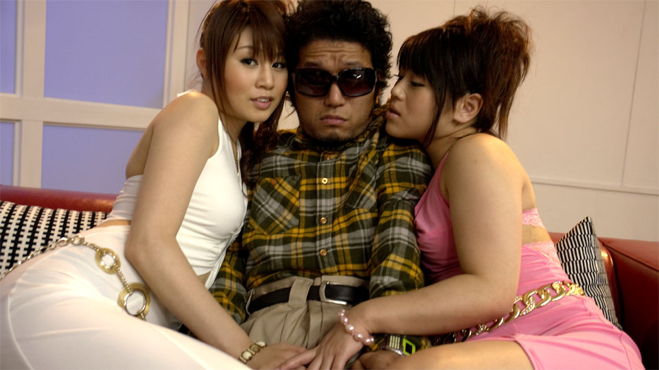 Japanese Nerdy Student In Glasses Having Fun With Two Very Hot Chicks In Sexy Baby