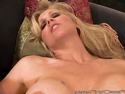 Horny curvy blonde with sweet booty sucks cock and gets fucked from behind