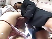 Nasty Asian MILF in a white blouse getting banged in the riding bus