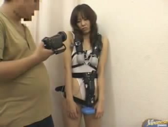 Japanese Girl With All Body With Bound Vibros Which She Can't Turn Off