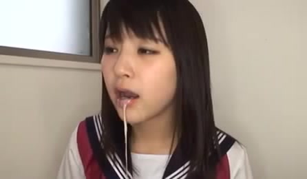 Nasty Asian Teen In School Uniform Milking Off A Dick Into Her Mouth