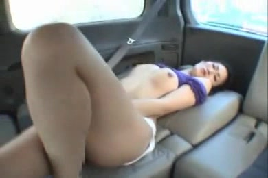 Belle In White Pant And Blue Top Gets Nailed Hardcore On The Car Seat.