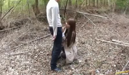 Gorgeous Horny Nasty Babe Quench Her Thirst Of A Cock In The Woods.