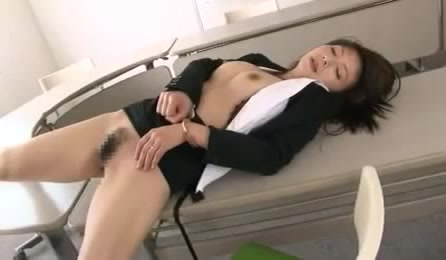 Busty Oriental Office Lady In A Suit Gets Her Snatch Creampied