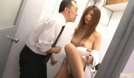 Horny Japanese Man Seduces His Subordinate Employee To Dirty Sex In The Office