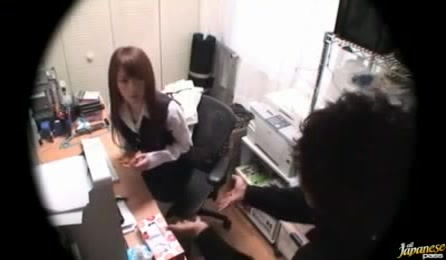 New Secretary Girl From Japan Gets Forced Banging With Her Co