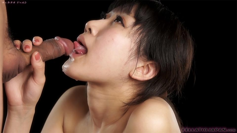 Sexy Ponytailed Asian Cutie Licking Man's Meat Very Carefully