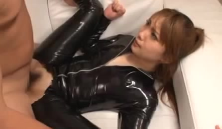 Naughty Girl In Ripped Full Black Outfit Gets Her Ass And Pussy Pumped By Guys
