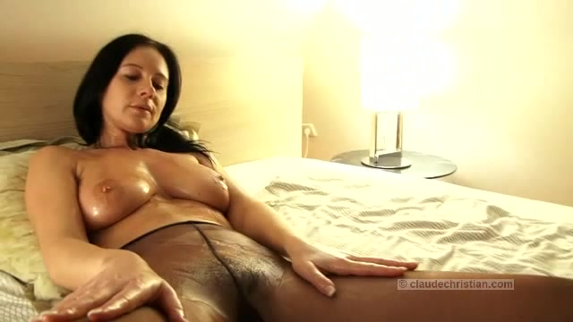 Pantyhose milf in her bedroom think