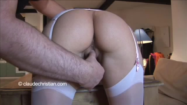 Blonde bent over and fucked words... super