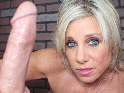 Handjob mature blond