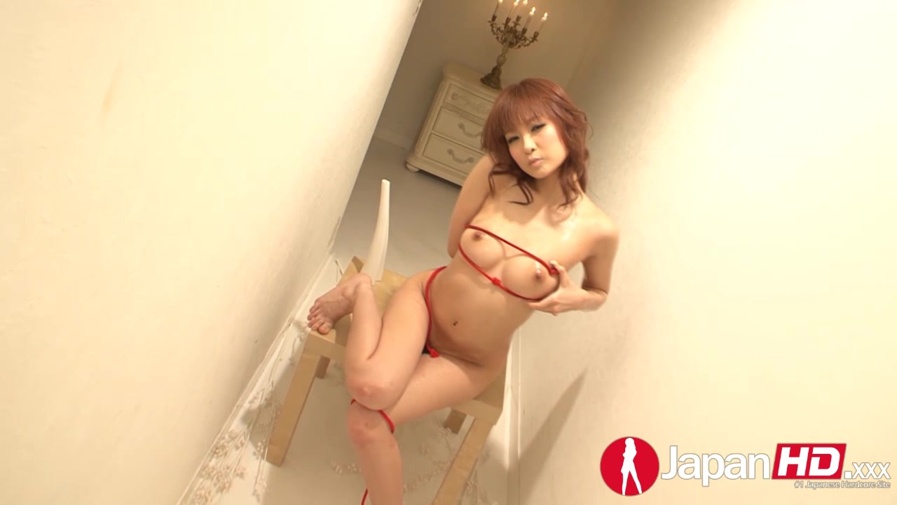 Naked Asian Hottie Crawls Naked In A Hallway While She Displays Her Big Booty And Hot Pussy Then She Sits On A Wooden Chair And Plays With A Red Rope Before She Pours Oil On Her Luscious Body Then Rubs The Rope On Her Ass And Pussy.