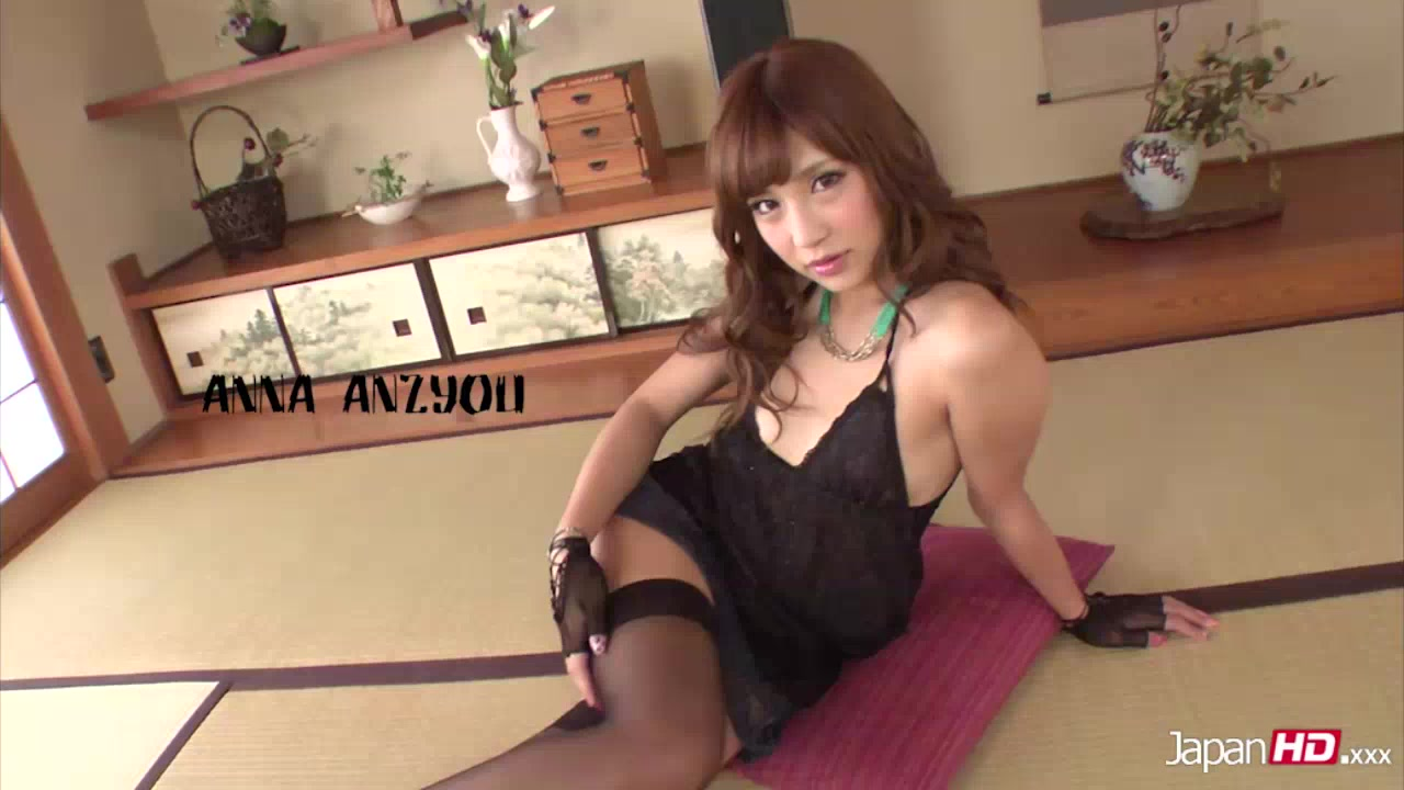 Beautiful Japanese Chick Teasing In Black Nighty, Gloves And Stockings Lets Two Guys Ravish Her And Mash Her Tits Before She Sucks The Dick Of One While Letting The Other Lick Her Pussy While She Takes Off Her Lingerie Then She Removes Her Black Thong And