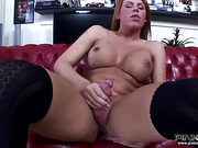 Chick with a dick trades cock sucking services with a bloke who also likes it up the ass.