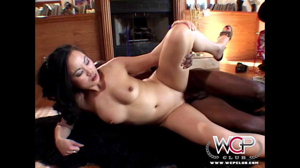 Interracial Behind The Scenes Clip Starring Asian Hottie And Black Fucker