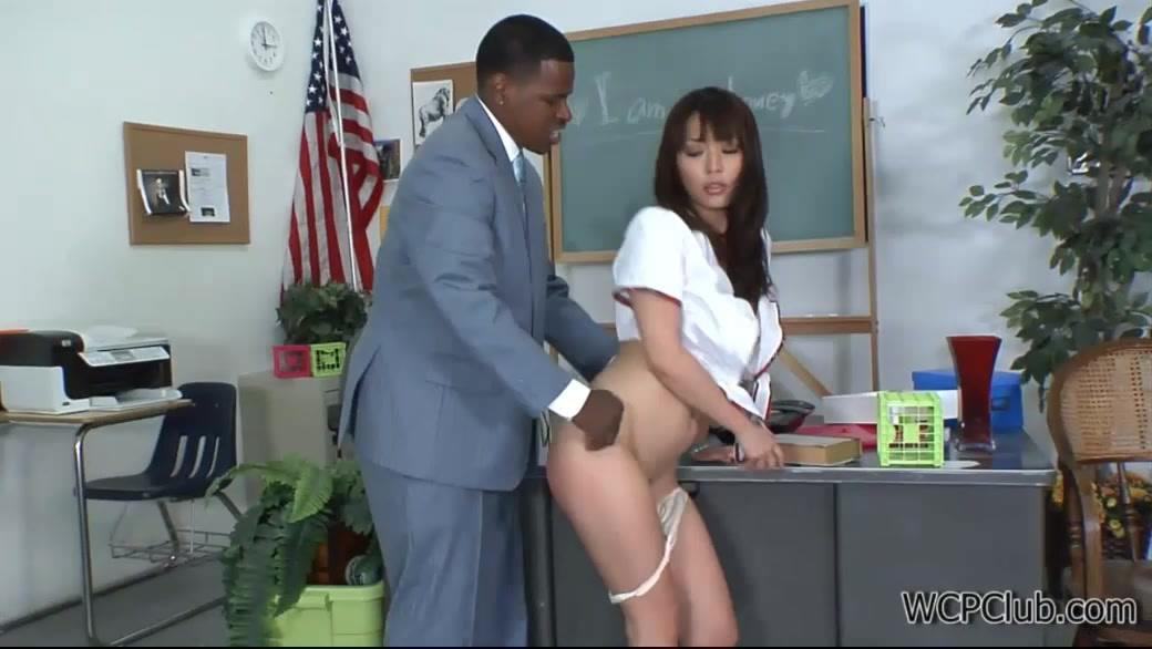 Teacher's Big Black Dick For A Teen Asian Schoolgirl's Ass