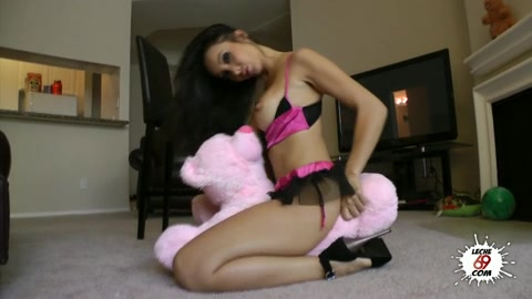 Very Hot Asian Babe In A Sexy Black And Pink Lingerie Takes A Dick In Various Ways