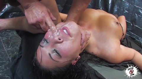 Nasty Asian Cougar In Fishnet With Big Natural Juggs Takes Facial After Hard Double Penetration