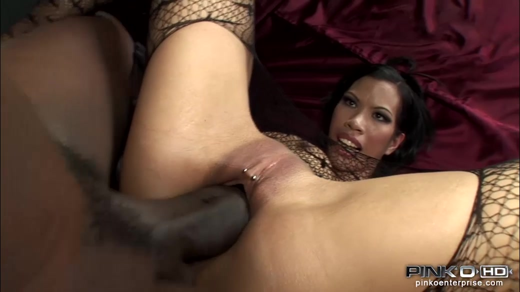 Massive Black Penis Occupied Asian Tight Pierced Snatch