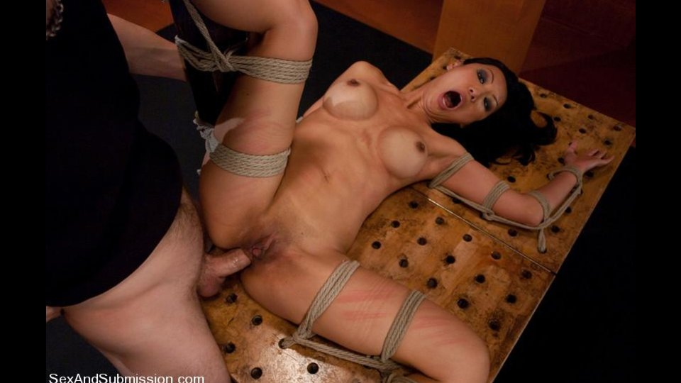 Asian Hoe Gets Painful Orgasm During Rough Anal Sex In Bondage Suspension