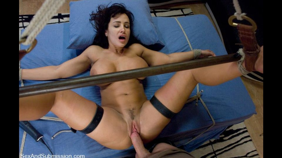 Boobed Brunette Cougar Gets Fucked Roughly In Bondage