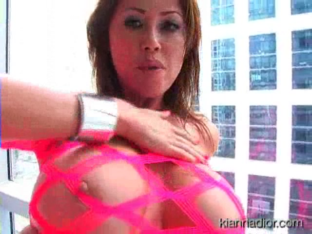 Busty Asian In Neon Pink Top Sucks Cock And Gets Cummed On