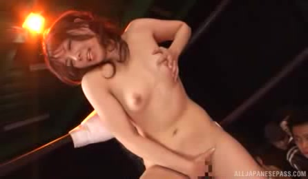 Naughty Japanese Hottie Exposes Her Pussy In Front Of A Group Of Horny Guys And Masturbates It In Public