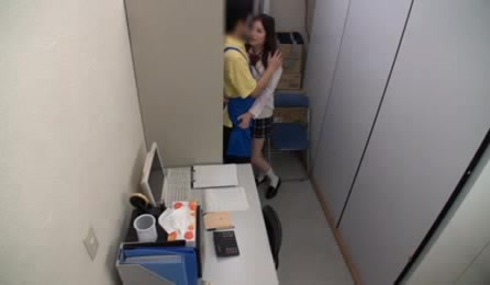 Horny Asian Schoolgirl Visits Her Boyfriend In His Office