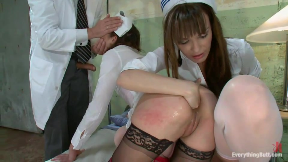 Doctor Entertains With Two Crazy Nurses In The Ward