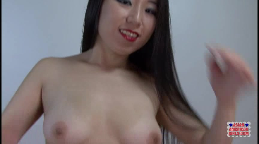 Petite Asian With Perfect Body And Red Lips Shows Off Her Bush