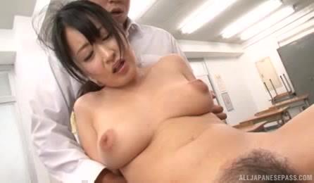 Sexy Asian Teacher With Bubble Ass Enjoys Group Fuck