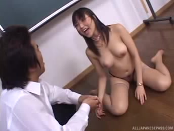 Steaming Japanese Teacher Gets Her Sexy Body Teased By A Horny Student Of Her Class