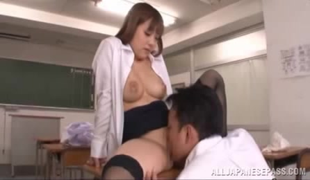 Beautiful Japanese Female Teacher Likes To Fuck With Young Guys