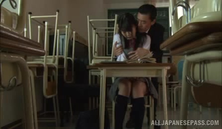 Naughty Japanese Girl Looks So Sexy In Her School Uniform And Teachers Gets Horny