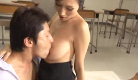 Impressive Japanese Teacher Goes Really Horny While Having A Private Class With One Of Her Best Students