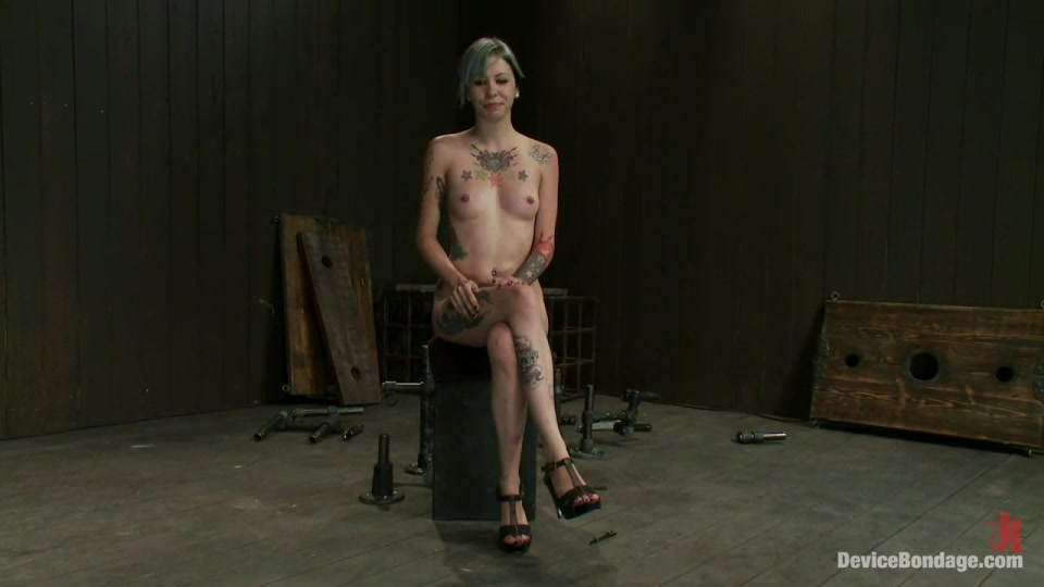 Sexy Emo Girl With Wonderful Tattoos Gets In The BDSM Basement