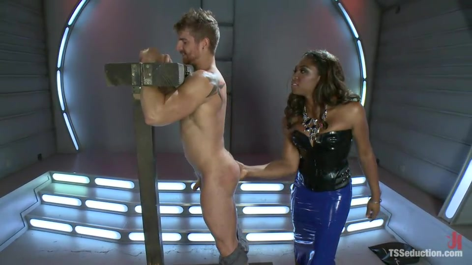 Black Chick With A Dick Schools A Guy On Softcore BDSM And Getting Fucked In The Butt.