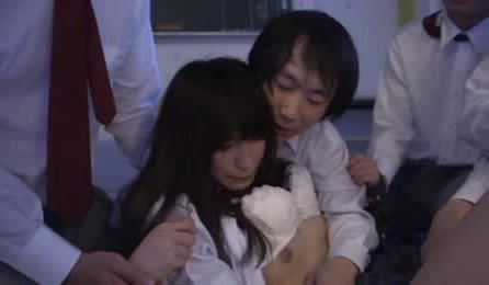 Lovely Japanese Schoolgirl Forced To Fuck By Her Classmates After School