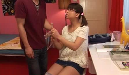 Horny Japanese Schoolgirl Gets Caught Masturbating Instead Of Doing Homework