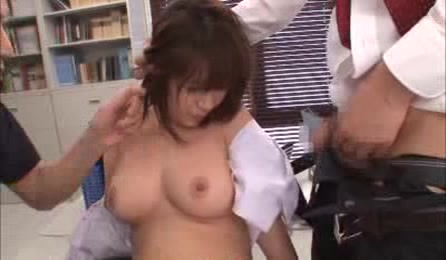Sweet Japanese Student With Big Tits Hardcore Threesome Fuck At School