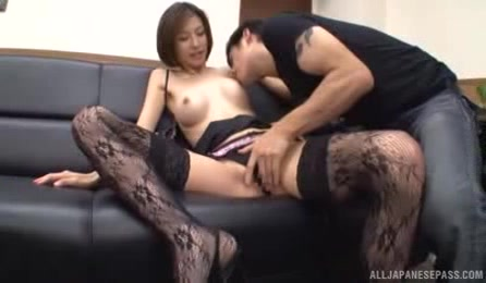 Lusty Japanese Office Chick Has A Visitor In Her Office