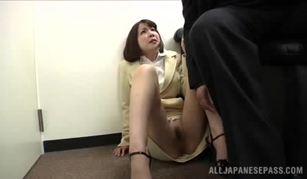 A Nice Mature JP Office Lady Is Called To Her Boss?S Office