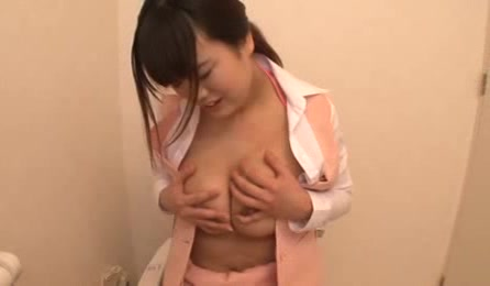 Sexy Japanese Office Chick Sits In A Toilet And Feels Sexual Excitement