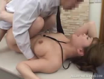 Hot Looking Japanese Office Lady Sometimes Gives Some Special Sexual Services To Her Horny Boss