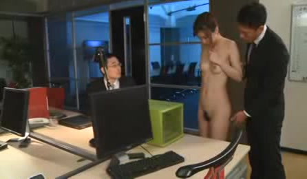 Office Guys Undress Bad Girl And Play With Her Curves