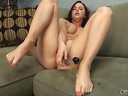 hot redhead girl next door shows her nice rack and masturbates