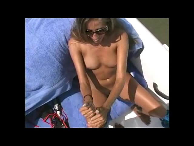 Gorgeous Hottie Teases With Her Striking Body On A Speedboat As She Pose Wearing Her Sexy Black And Red Bikini Before She Takes Off Her Bra And Reveals Her Indulging Tits Then Strips Down Her Panty And Expose Her Ravishing Pussy Before She Holds A Big Dic